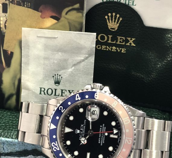 A vintage Rolex GMT with a Pepsi bezel in exceptional condition and complete 9