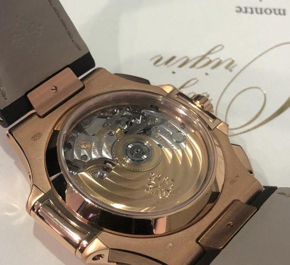 An 18ct rose gold Patek Nautilus chronograph 3