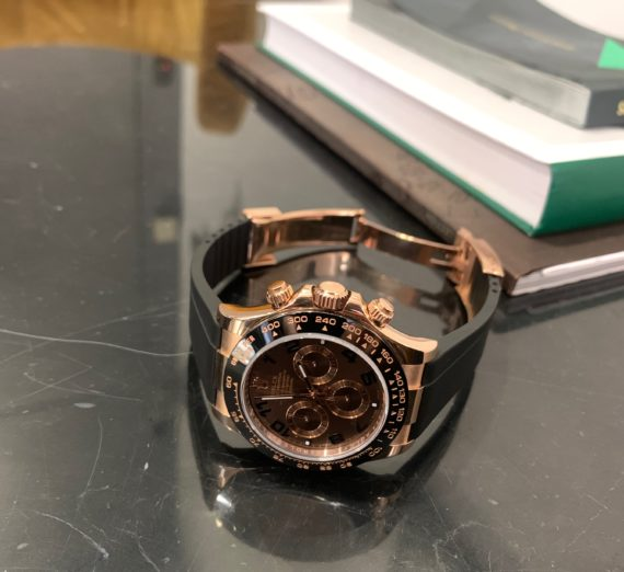 Rolex 18ct Everose Gold  ceramic bezel 116515LN