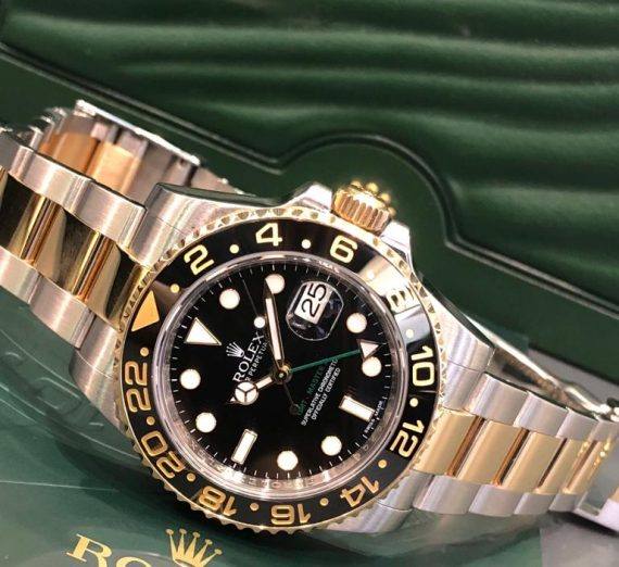 Rolex 18ct Yellow Gold and stainless steel GMT Master 116713LN