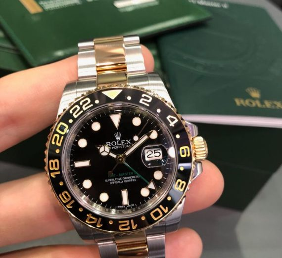 Rolex 18ct Yellow Gold and stainless steel GMT Master 116713LN 8