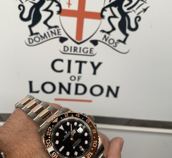 ROLEX GMT II ROOTBEER 18CT ROSE GOLD AND STEEL 2