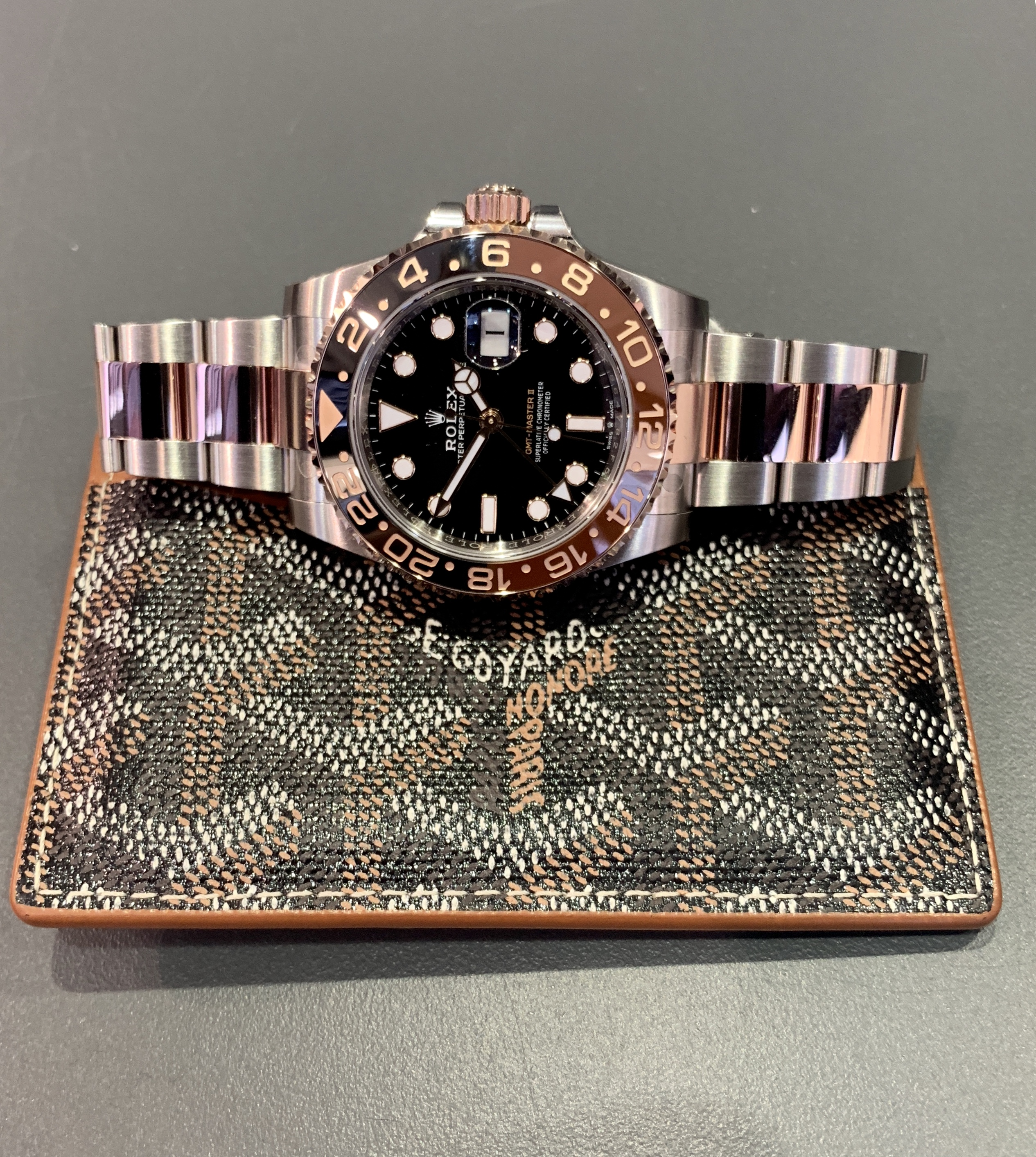 Rolex Gmt Ii Rootbeer 18ct Rose Gold And Steel Carr Watches