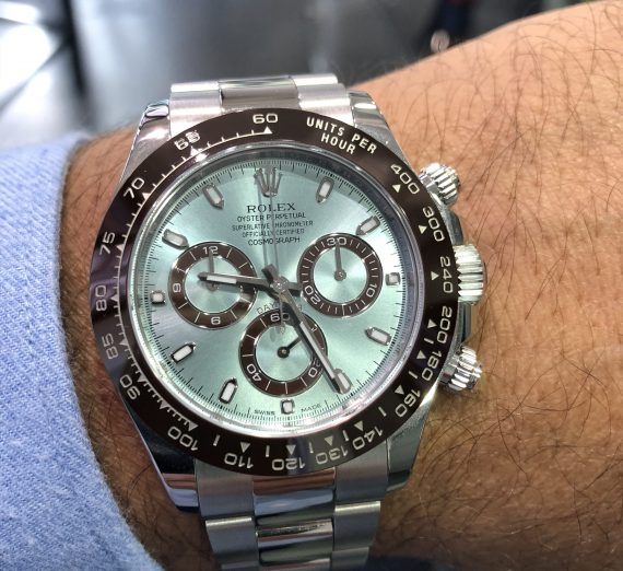 Rolex Daytona In Platinum With The Stunning Ice Blue Dial 116506