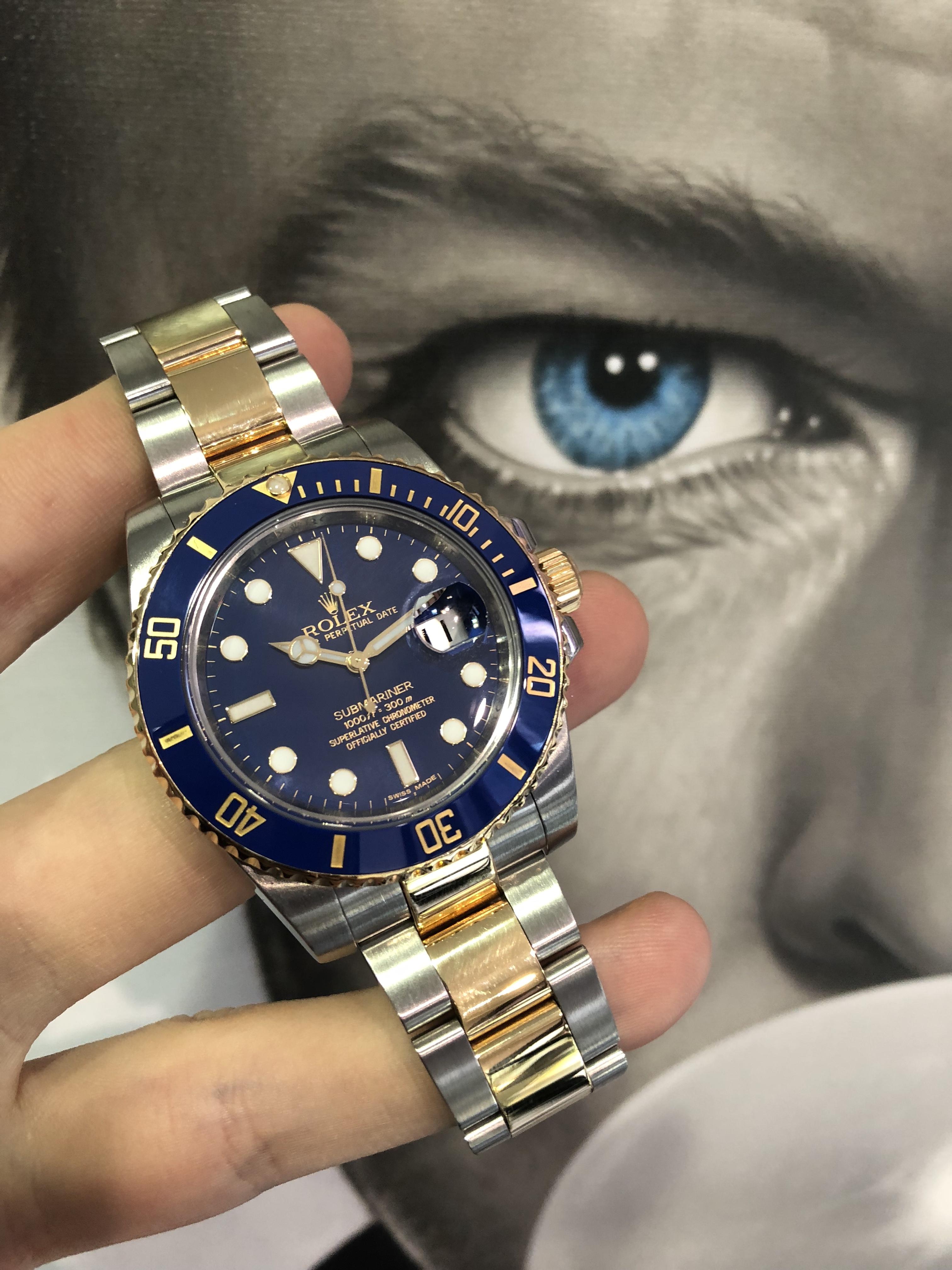 Rolex 116613 Submariner Steel & Gold Ceramic bezel - Carr ...