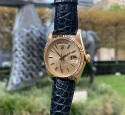 Vintage Daydate Gold 36mm on Cocodile Strap