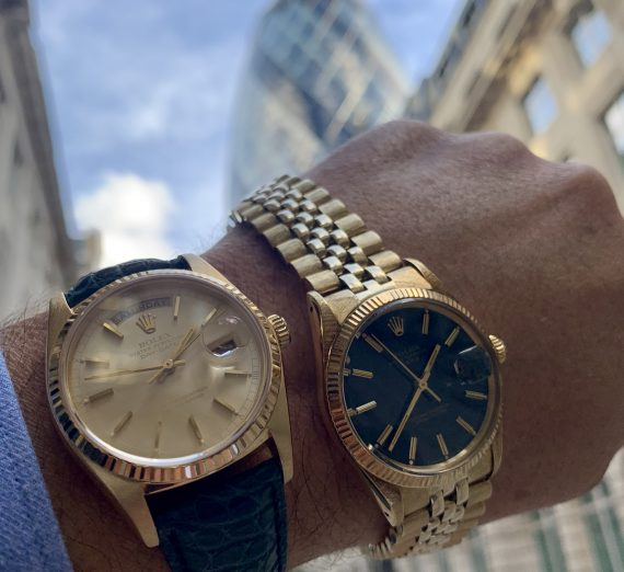 Vintage Rolex Gold oyster perpetual date 2