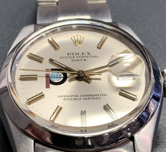 Vintage Rolex stainless steel date with rare logo dial from 1979 9