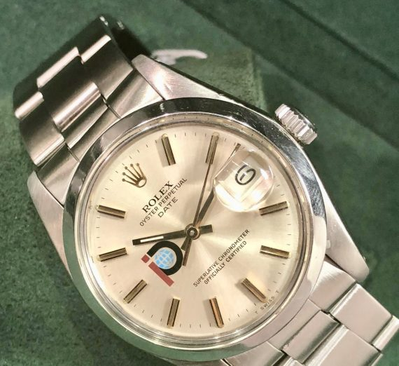 Vintage Rolex stainless steel date with rare logo dial from 1979 2