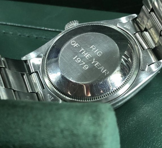 Vintage Rolex stainless steel date with rare logo dial from 1979