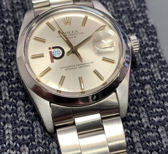 Vintage Rolex stainless steel date with rare logo dial from 1979 6
