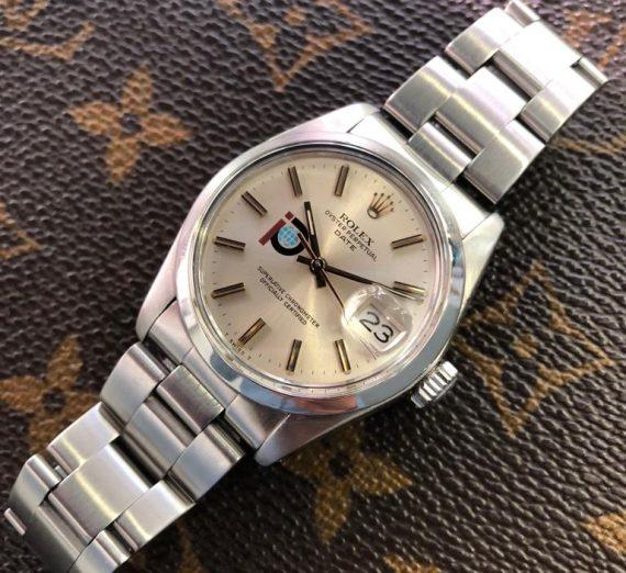 Vintage Rolex  stainless steel datejust P logo 1979 1