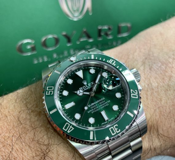 A Rolex Submariner green dial and bezel 116610LV