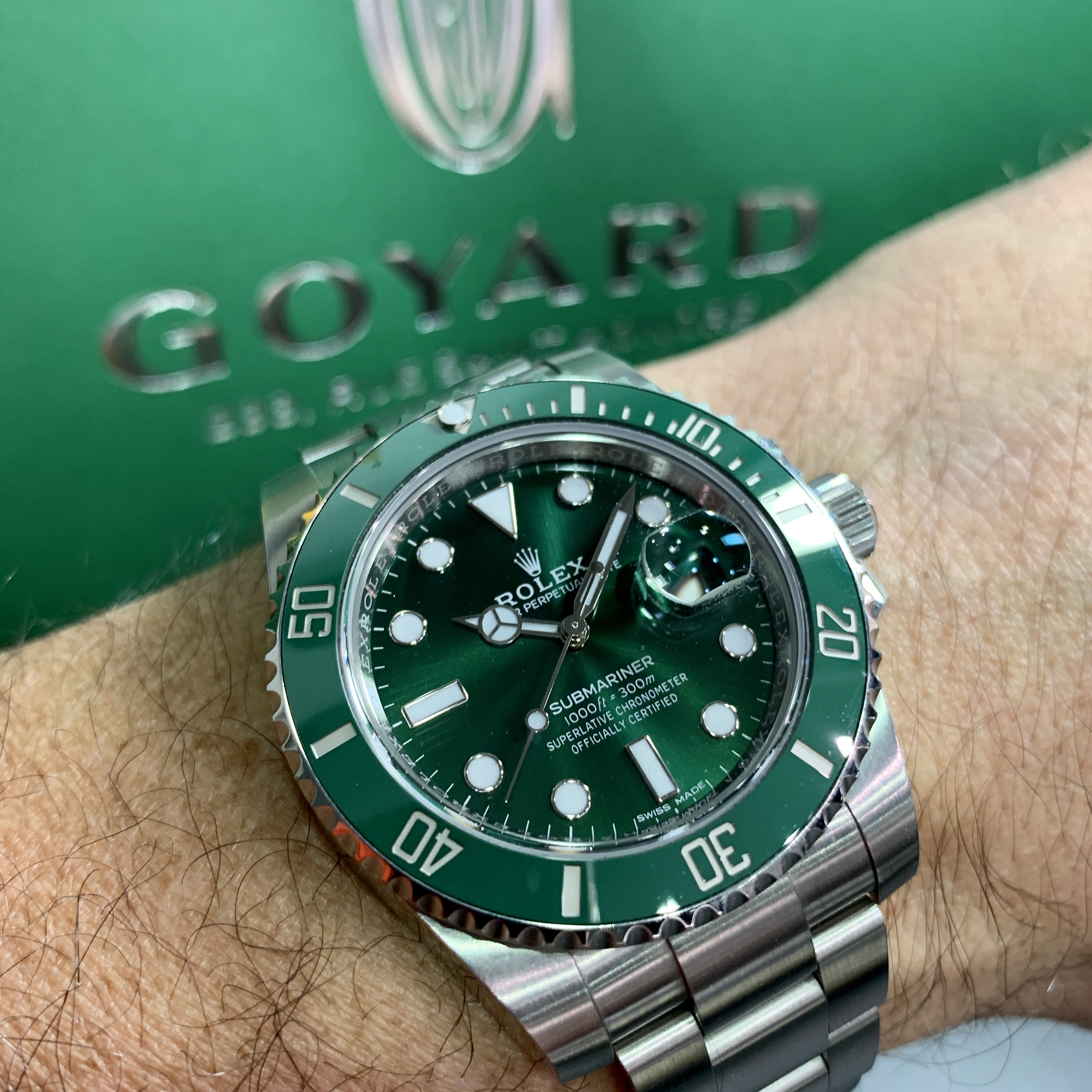 Rolex 24 Daytona >> Rolex Submariner green dial and bezel 116610LV - Carr Watches