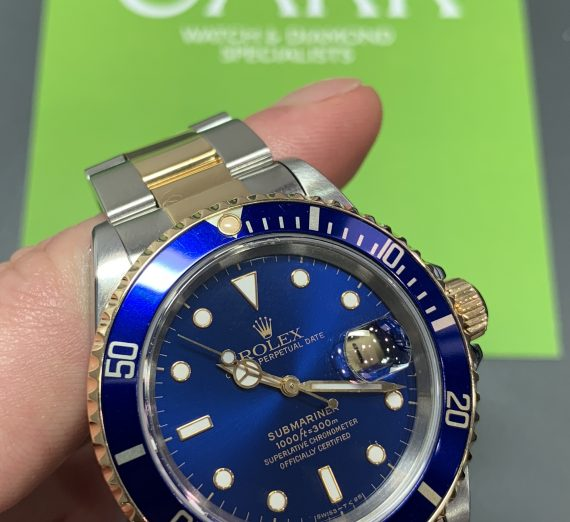 Rolex 18ct gold and steel Submariner from 1995 4