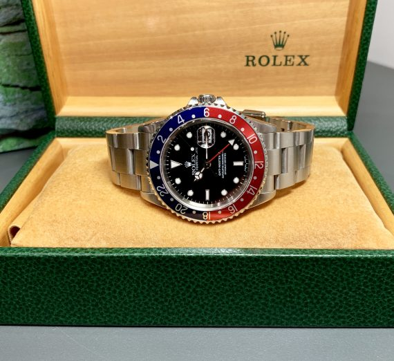 A vintage Rolex GMT with a Pepsi bezel in exceptional condition and complete 18