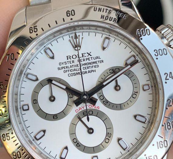 Rolex Daytona 116520 Stainless Steel white Sial 1