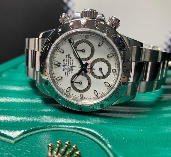 Rolex Daytona 116520 Stainless Steel white Sial 2