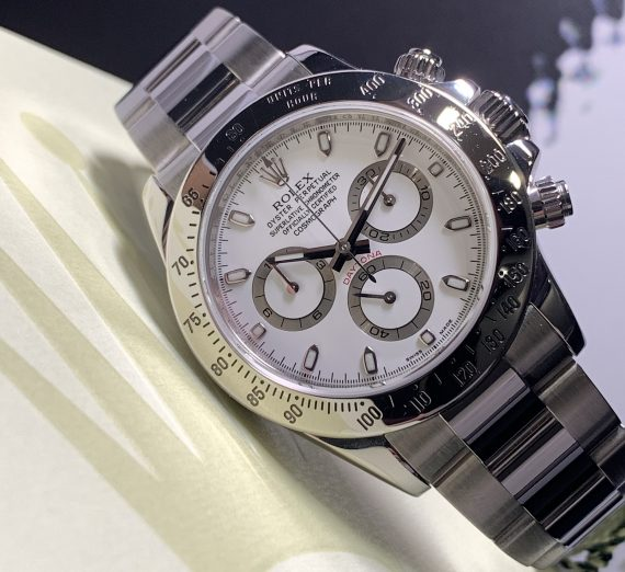 ROLEX DAYTONA 116520 WHITE DIAL APH STAINLESS STEEL 1