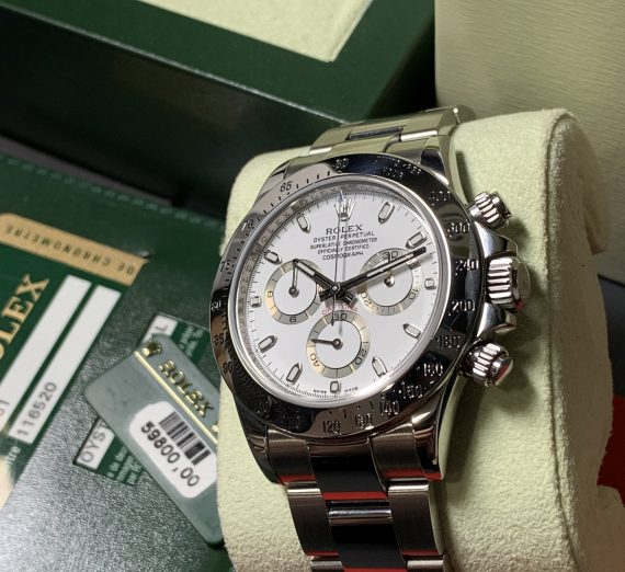 ROLEX DAYTONA 116520 WHITE DIAL APH STAINLESS STEEL 4