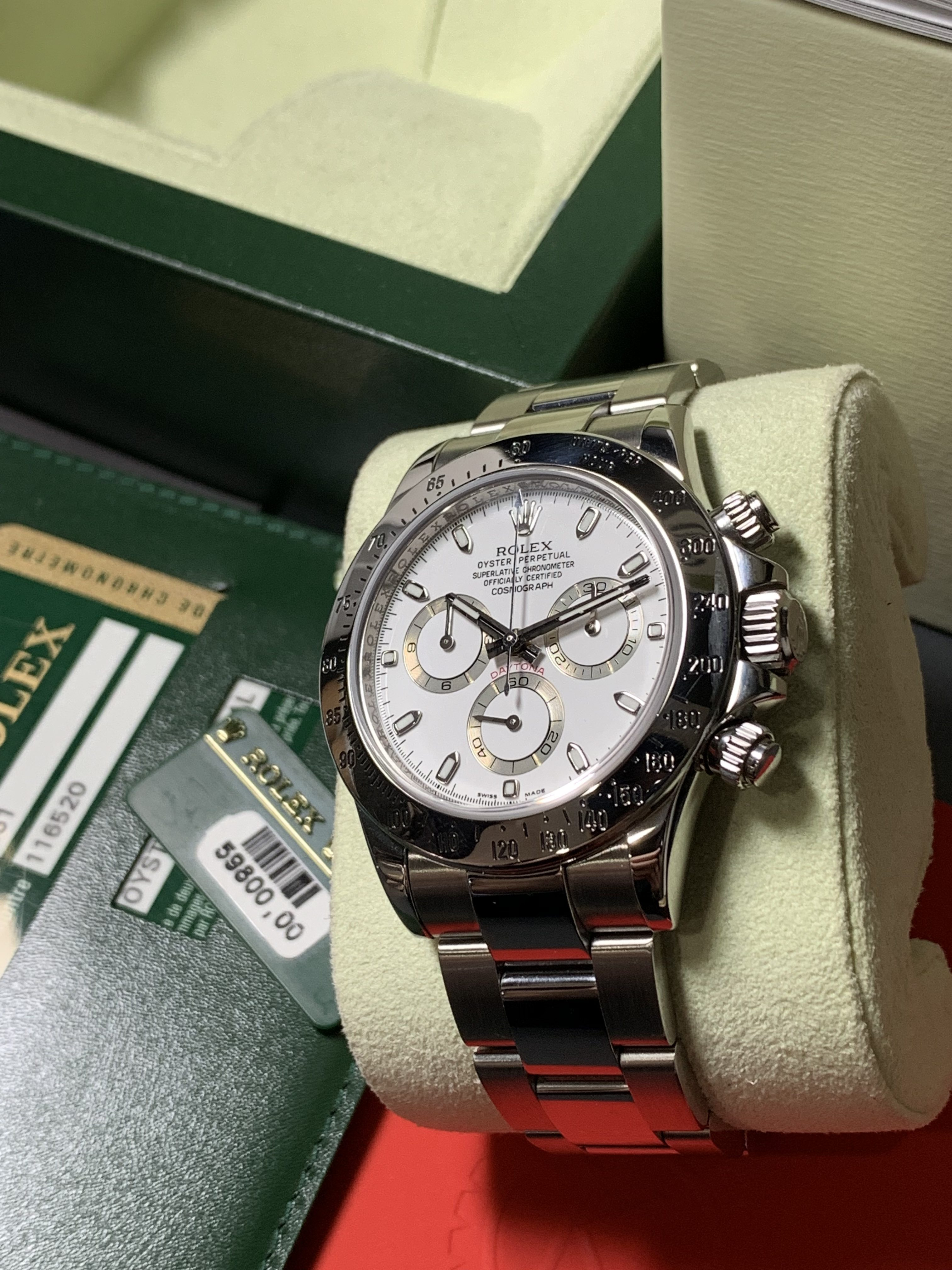 Daytona Rolex Watch >> ROLEX DAYTONA 116520 WHITE DIAL STAINLESS STEEL - Carr Watches