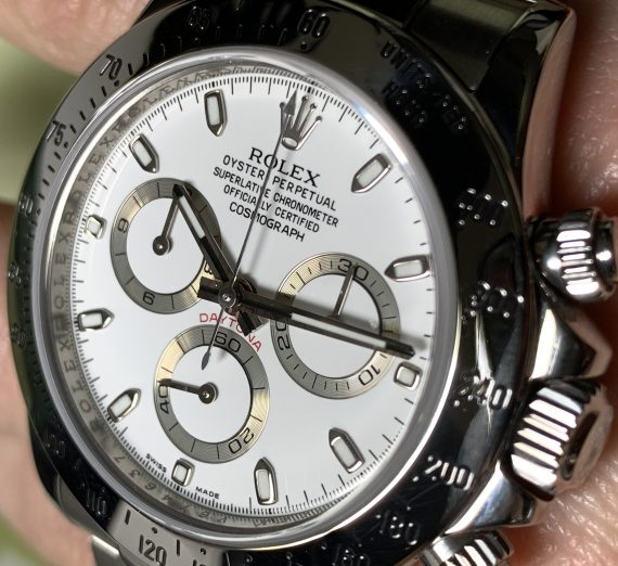 ROLEX DAYTONA 116520 WHITE DIAL APH STAINLESS STEEL 6