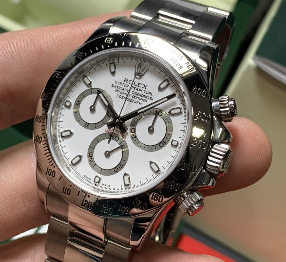 ROLEX DAYTONA 116520 WHITE DIAL APH STAINLESS STEEL 7