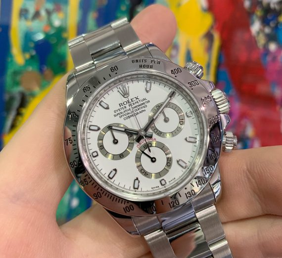 ROLEX DAYTONA 116520 WHITE DIAL APH STAINLESS STEEL 8