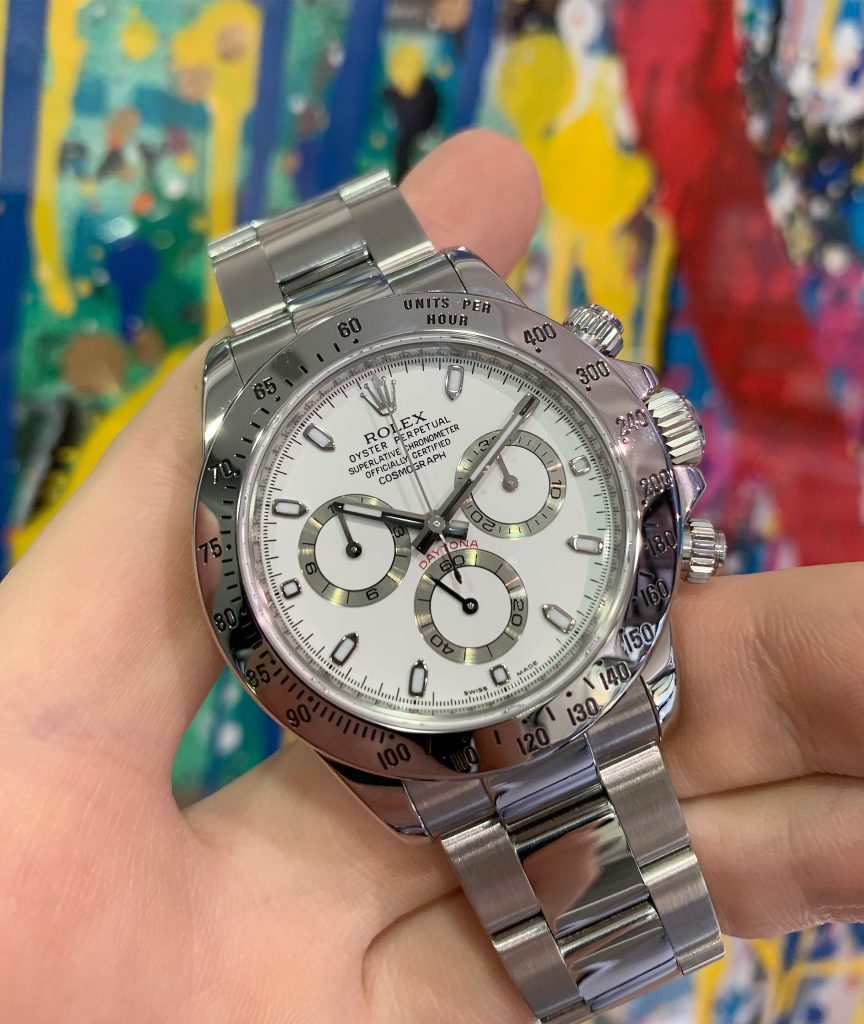 Rolex Daytona 116520 White Dial Stainless Steel Carr Watches