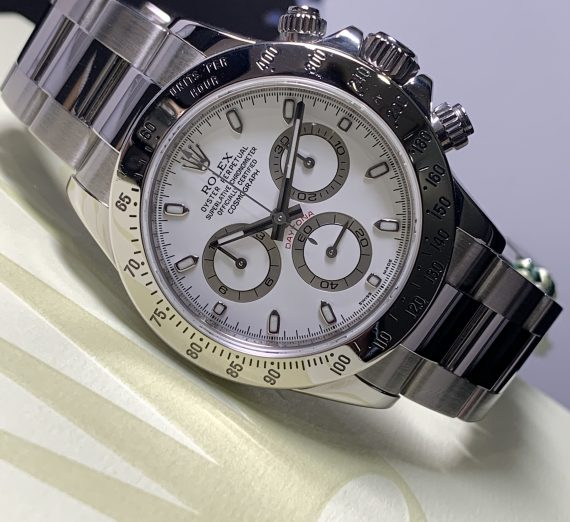 ROLEX DAYTONA 116520 WHITE DIAL APH STAINLESS STEEL