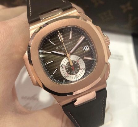 PATEK PHILIPPE 18CT ROSE GOLD NAUTILUS CHRONOGRAPH 5980