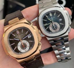 18CT ROSE GOLD 5980R & STAINLESS STEEL PATEK PHILIPPE NAUTILUS 5980/1A