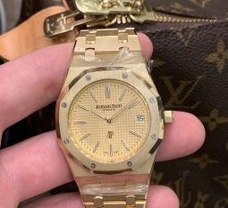 AUDEMARS PIGUET YELLOW GOLF ROYAL OAK 'JUMBO' EXTRA-THIN 15202BA.OO.1240BA.02