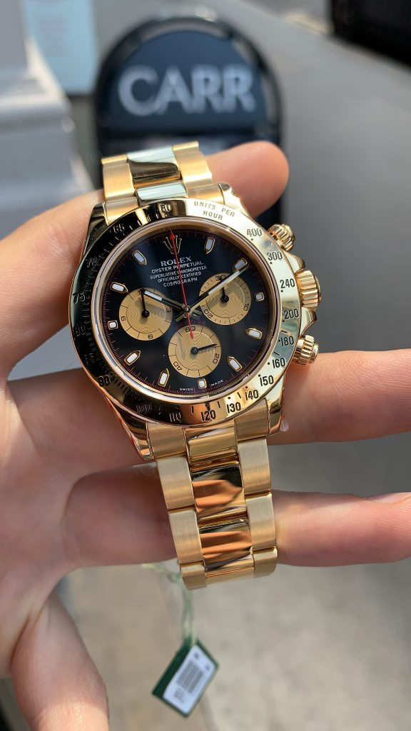 Used Rolex Daytona >> ROLEX DAYTONA YELLOW GOLD 116528 PAUL NEWMAN - Carr Watches