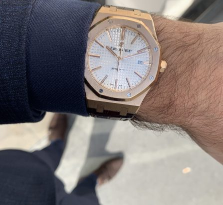 AUDEMARS PIGUET ROYAL OAK ROSE GOLD 15400OR.OO.D088CR.01