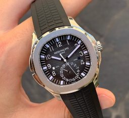 PATEK PHILIPPE AQUANAUT STAINLESS STEEL TRAVEL TIME 5164A-001