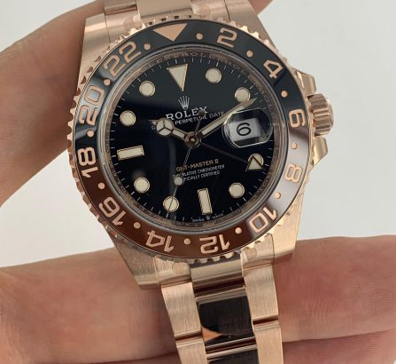 ROLEX GMT-MASTER II 126715CHNR 18CT EVEROSE GOLD