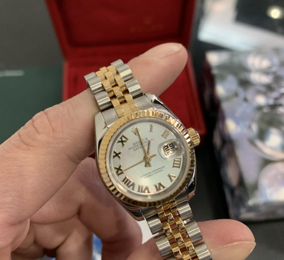 ROLEX LADIES DATEJUST 18ct YELLOW GOLD AND STAINLEES STEEL 1