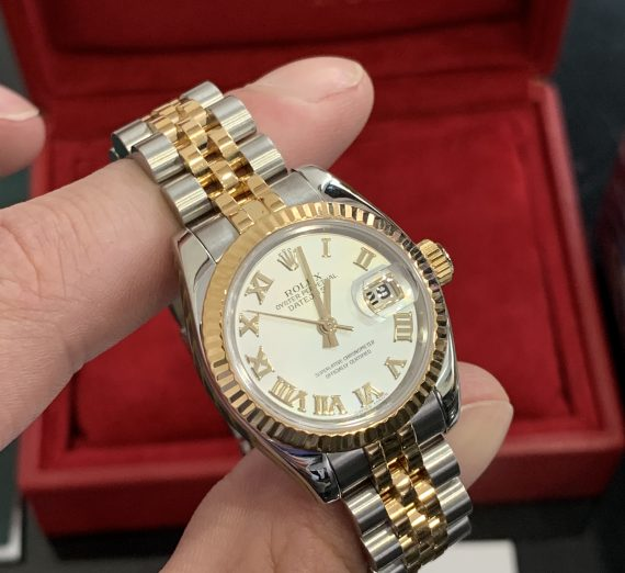 ROLEX LADIES DATEJUST 18ct YELLOW GOLD AND STAINLEES STEEL 2
