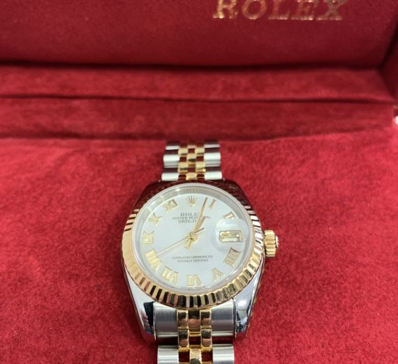 ROLEX LADIES DATEJUST 18ct YELLOW GOLD AND STAINLEES STEEL 3