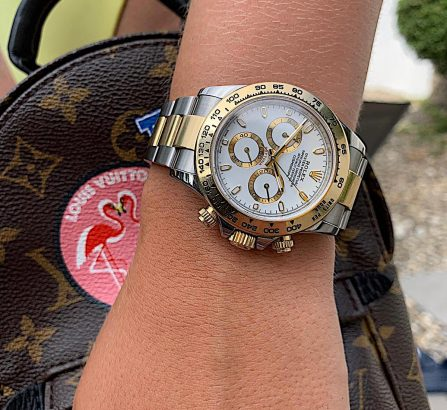 ROLEX DAYTONA COSMOGRAPH STAINLESS STEEL AND 18CT YELLOW GOLD 116503