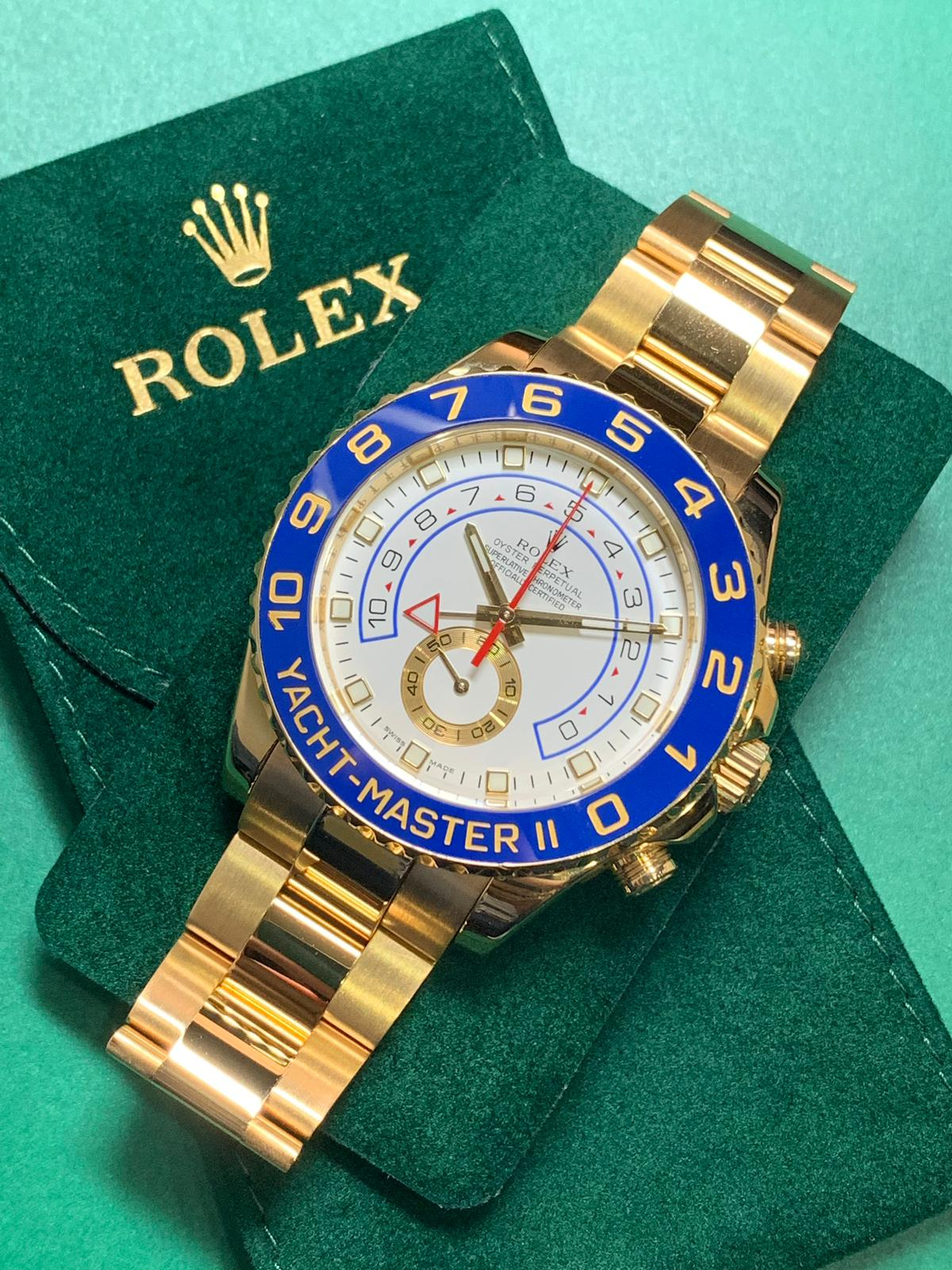 Rolex Yacht Master Ii 116688 18ct Yellow Gold Carr Watches