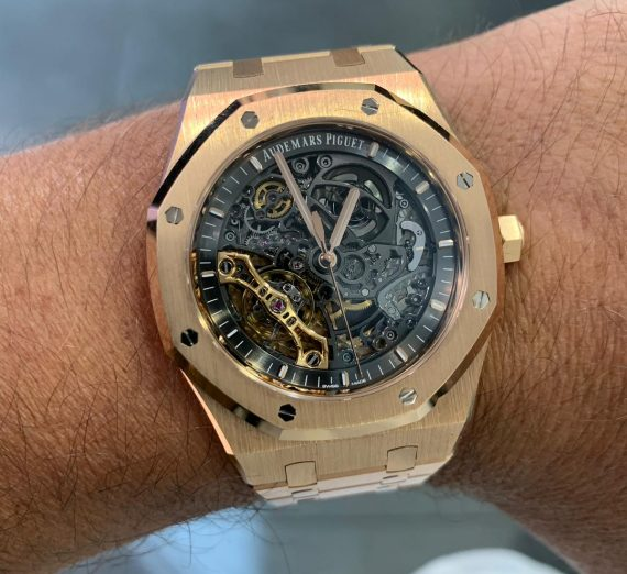 AUDEMARS PIQUET ROYAL OAK ROSE SKELETON 15407OR 1