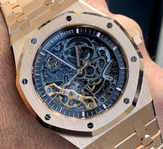 AUDEMARS PIQUET ROYAL OAK ROSE SKELETON 15407OR 2