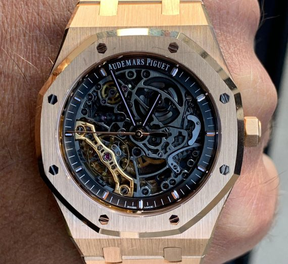 AUDEMARS PIQUET ROYAL OAK ROSE SKELETON 15407OR 3