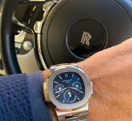 ROLLS ROYCE DAWN / PATEK PHILIPPE NAUTILUS 40th ANNIVERSARY 18CT WHITE GOLD 5976/1G