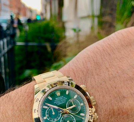 ROLEX COSMOGRPAH DAYTONA 18CT YELLOW GOLD GREEN DIAL 116508