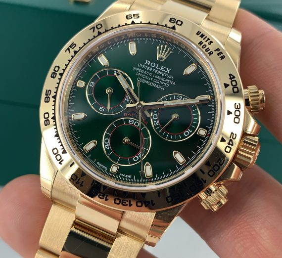 ROLEX DAYTONA YELLOW GOLD GREEN DIAL 116508 3