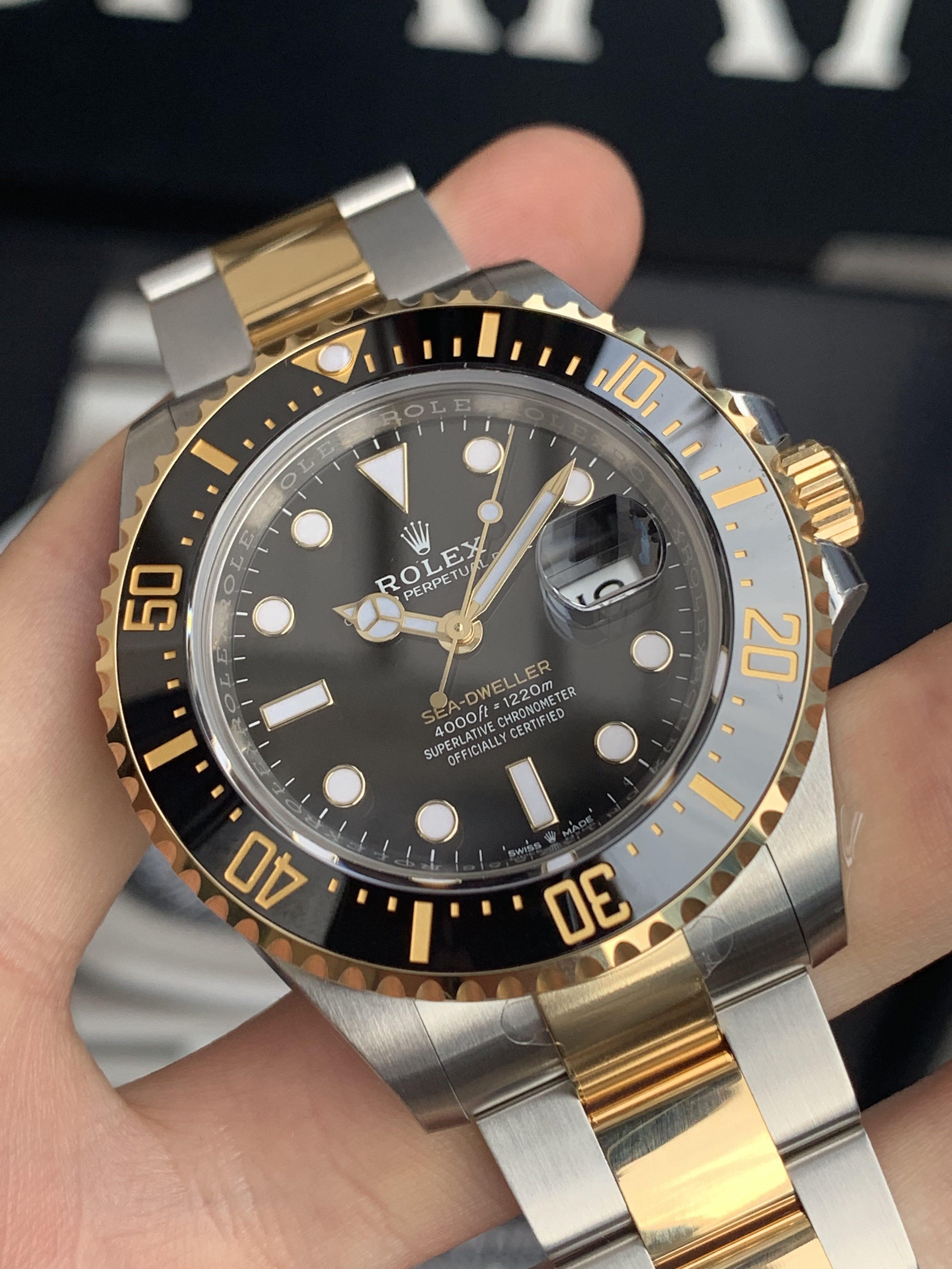 rolex dweller sea gold 43mm steel watches