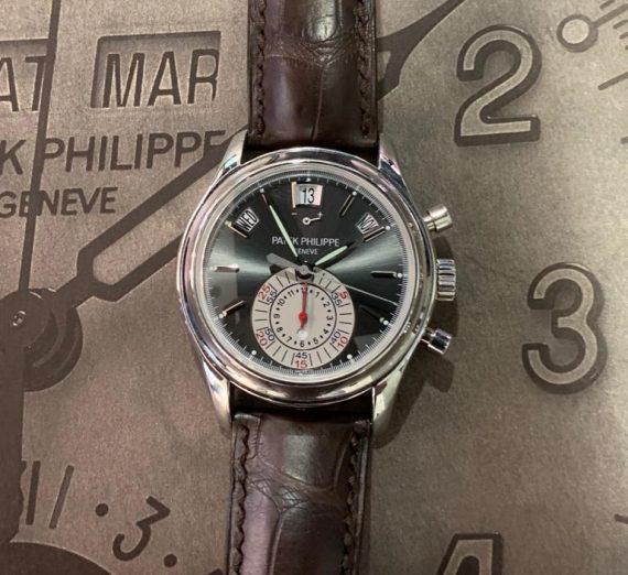 PATEK PHILIPPE ANNUAL CALENDAR CHRONOGRAPH PLATINUM 5960P 9